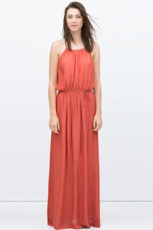 Robe Longue Rouge De Zara