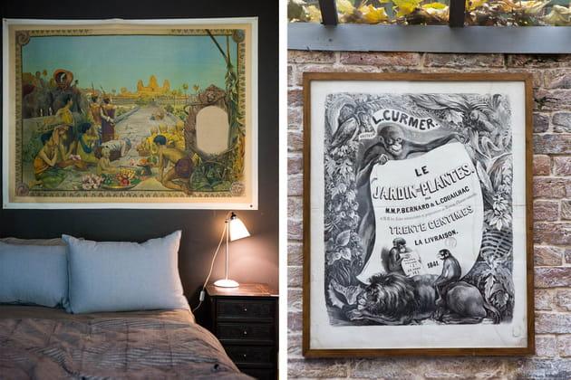 Des affiches semblables à des tableaux