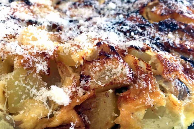 Omelette pommes de terre et champignons