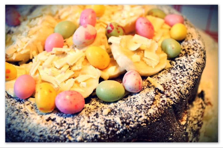 Pudding de brioche à la noix de coco