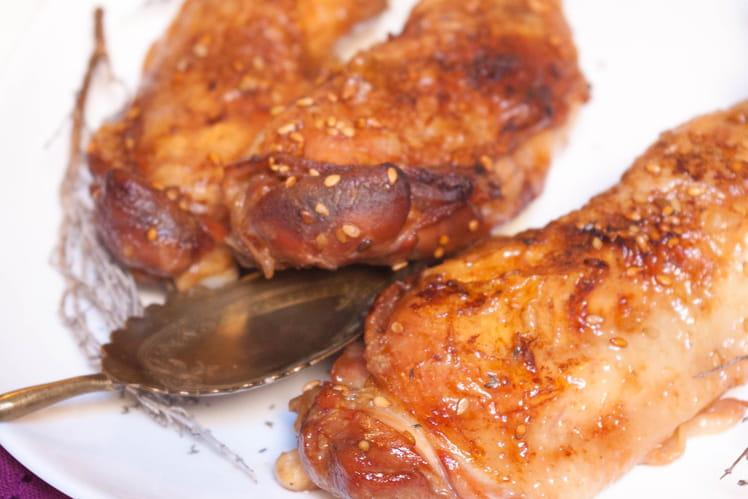 Poulet sésame et sauce soja
