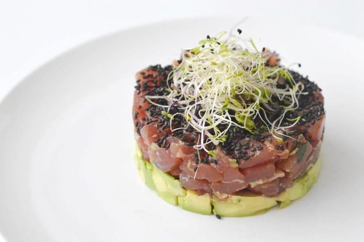 Tartare de thon, avocat, wasabi