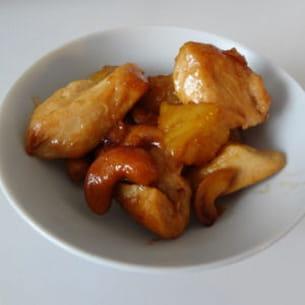 poulet noix de cajou et ananas