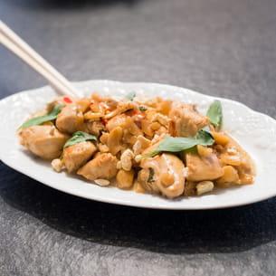 poulet épicé thaï au piment