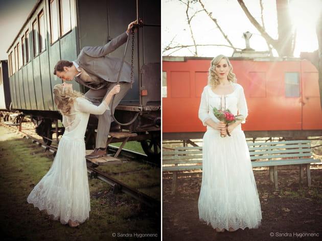 Un mariage années 20dans un train