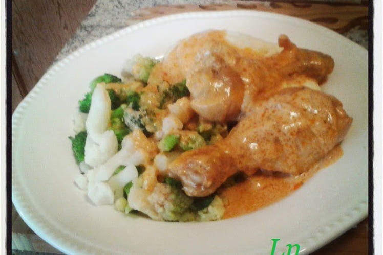 Pilons de poulet sauce ail piment et crème