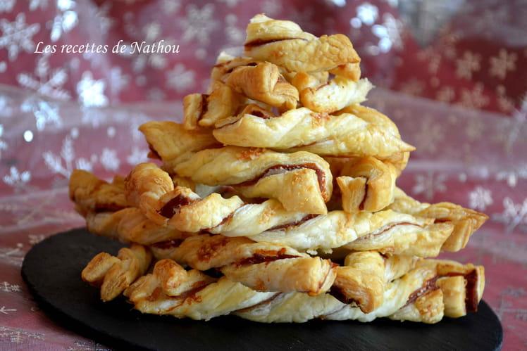 Torsades feuilletées au jambon et parmesan