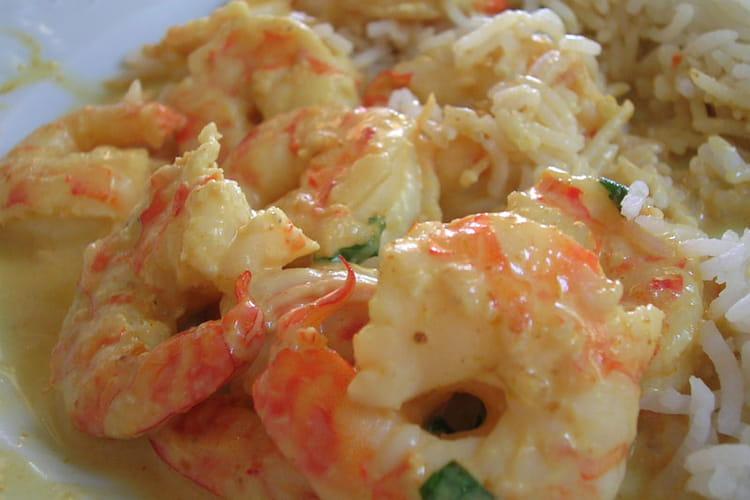 Curry jaune de crevettes express