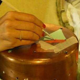 le matériel nécessaire à la réalisation de la lampe-casserole