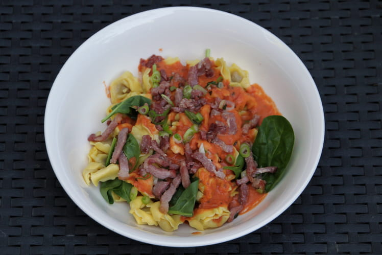 Tortellini au bœuf sauce tomate
