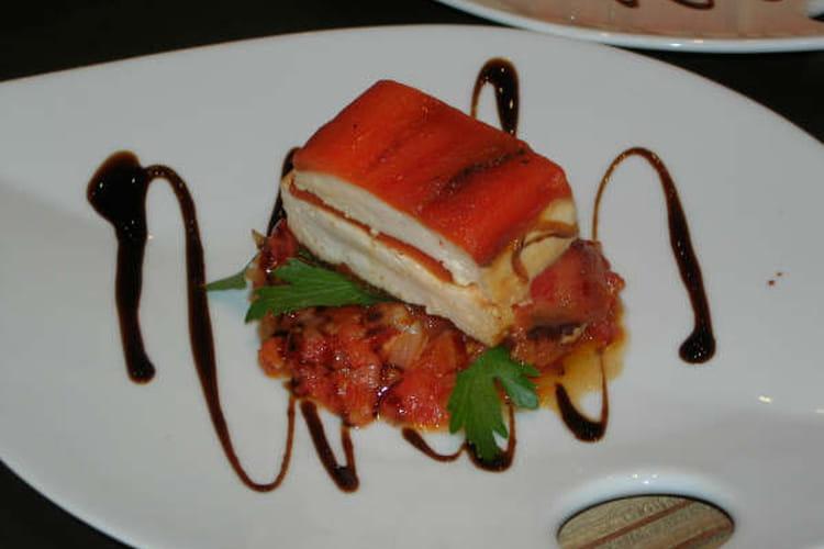 Terrine de langoustine et piquillos au piment d'Espelette