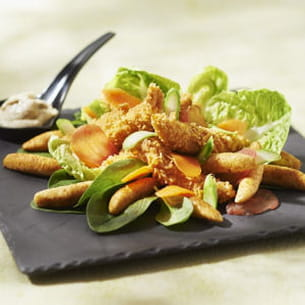 salade césar au poulet croustillant