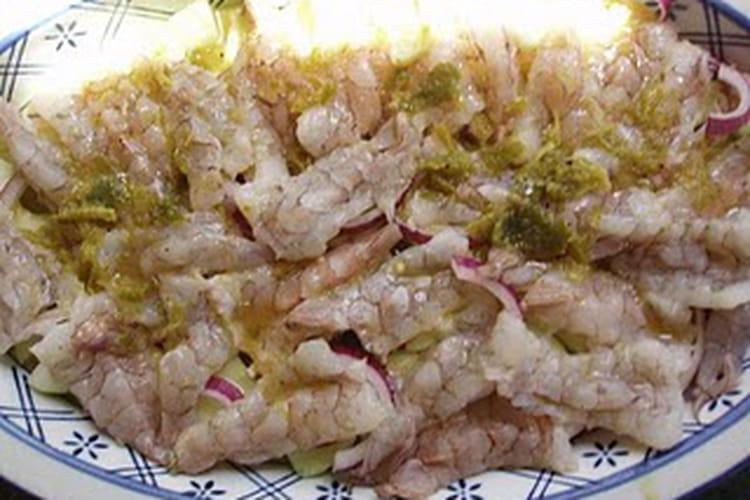 Crevettes à l'aguachile