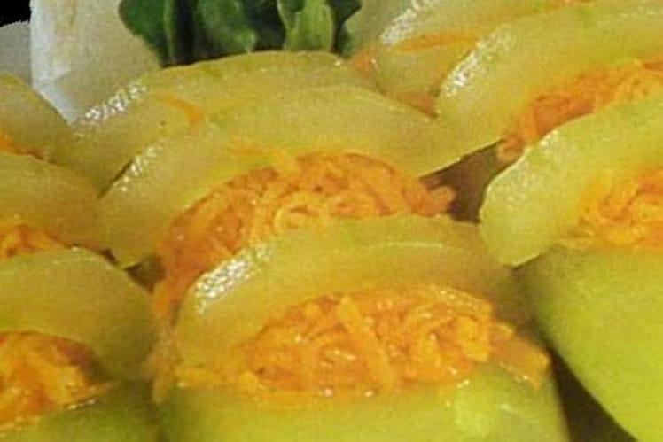 Barquettes de concombre