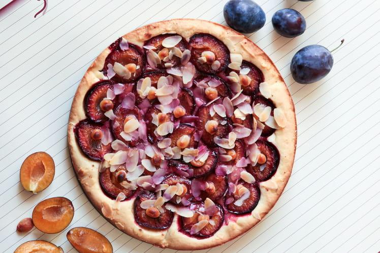 Clafoutis aux prunes et à la poudre d'amande