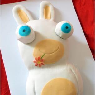 cake lapins crétins - raving rabbids cake