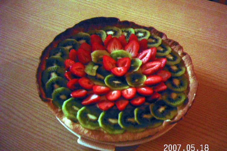 Tarte fraises kiwis