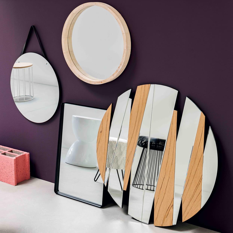 Miroirs zig zag et cuir de fly for Miroir zigzag