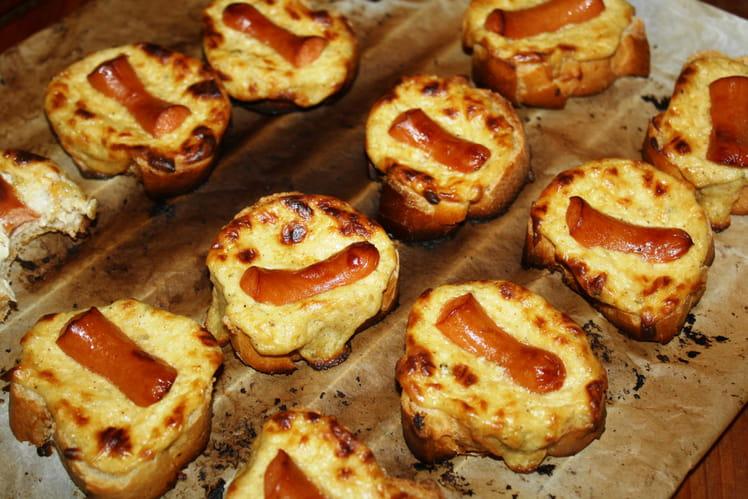 Toasts grillés moutarde et saucisses