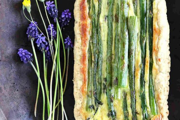 Tarte rustique aux asperges vertes