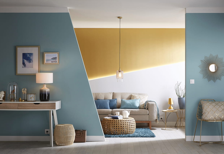 peintures atoll et gris galet luxens de leroy merlin. Black Bedroom Furniture Sets. Home Design Ideas