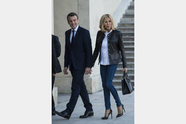 Brigitte Macron le 15avril 2018