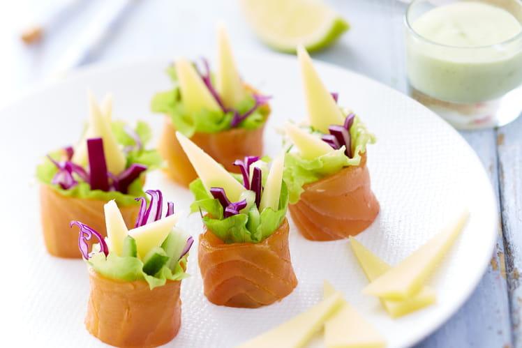 Maki au Gruyère AOP Suisse, saumon fumé et légumes