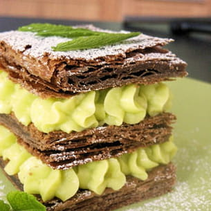 millefeuille menthe-chocolat