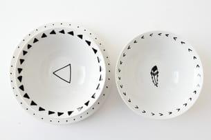 faire cuire la vaisselle pour fixer la peinture