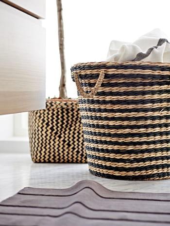 panier en osier bicolore. Black Bedroom Furniture Sets. Home Design Ideas