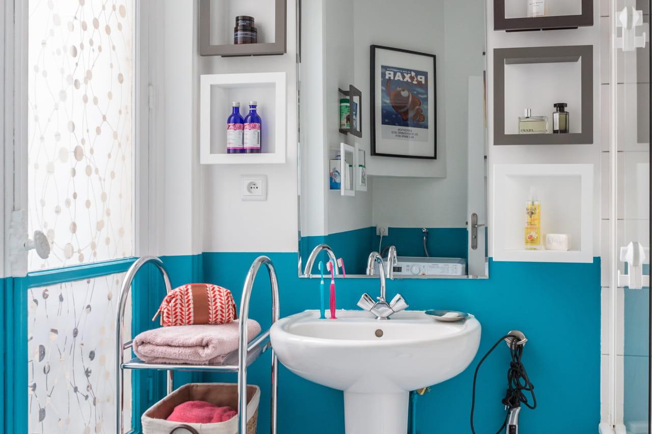Salle De Bain Chalet Bois ~ salle de bain bleu marine et blanc cool salle de bain color e