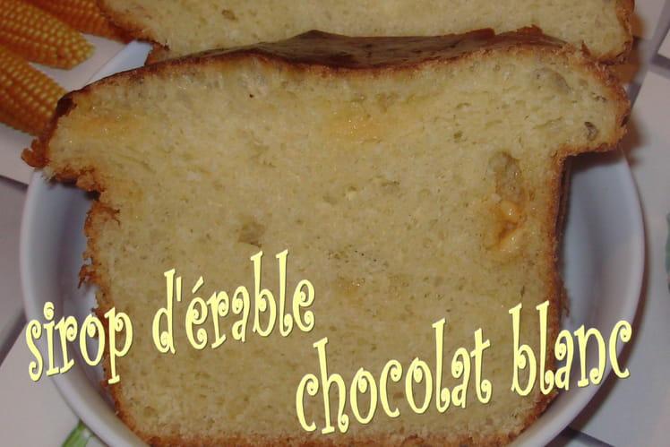 Brioche au sirop d'érable et au chocolat blanc