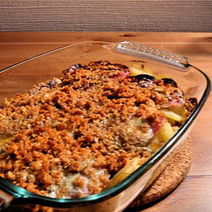 crumble bacon et roquefort