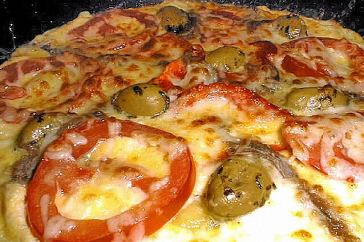 Omelette comme une pizza