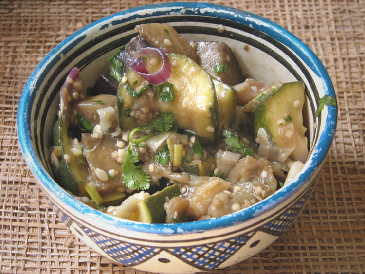 Recette de salade de courgettes et d aubergines l - Cuisiner des aubergines facile ...