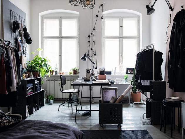 Chambre façon loft