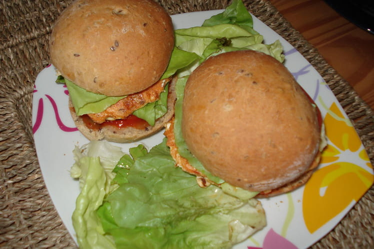 Hamburger maison au saumon
