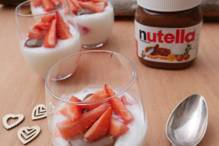Panna Cotta fraise et Nutella