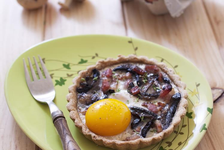 Tartelettes champignons lardons oeuf