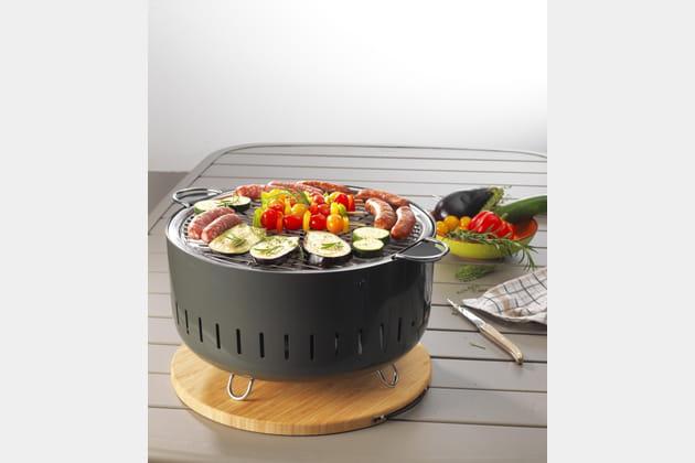 barbecue de table charbon de bois par carrefour. Black Bedroom Furniture Sets. Home Design Ideas