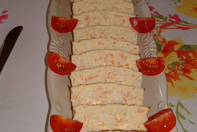 Cake crabe et asperges