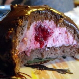 dôme chocolat au coeur de framboise