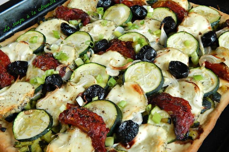 Pizza aux courgettes et au Sainte-Maure de Touraine  selon Alain Ducasse