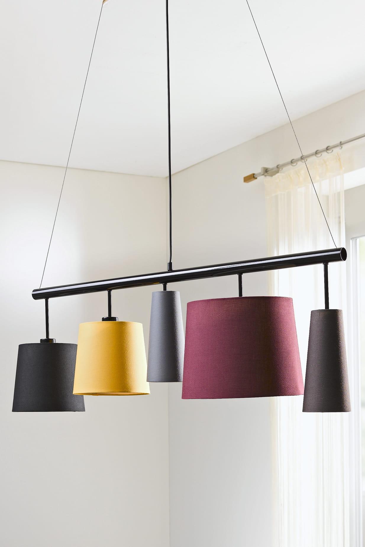 suspension cinq abat jour d 39 helline. Black Bedroom Furniture Sets. Home Design Ideas