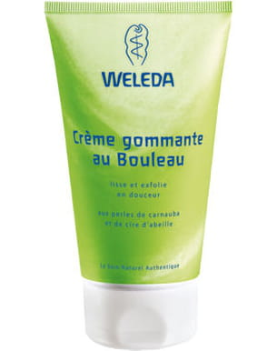 crème gommante au bouleau bio de weleda