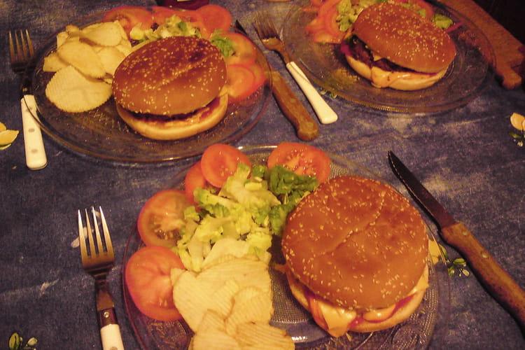 Hamburger américain au pain de viande maison