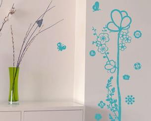 sticker 'toise fleurs' de binup chez decoclico