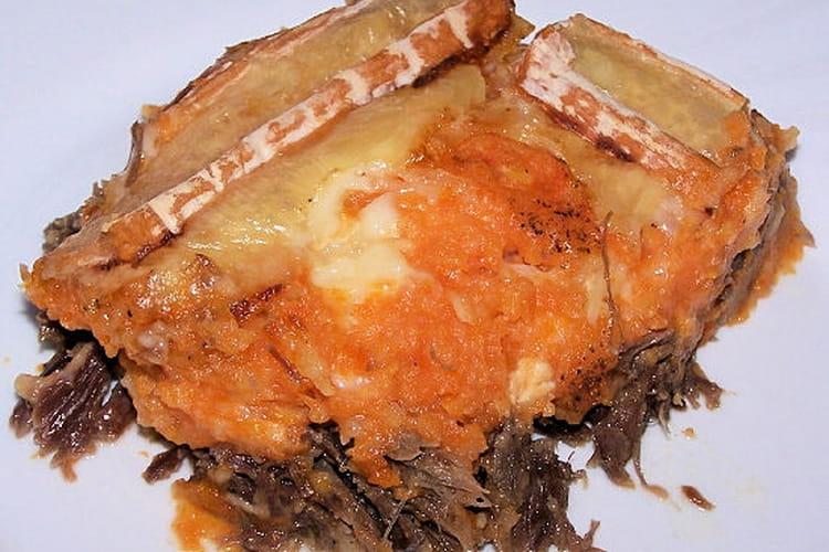 Gratinée de carottes et Vieux Pané au canard