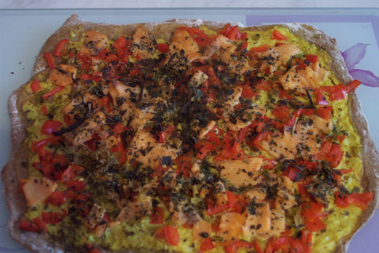 Tarte légère saumon-curry