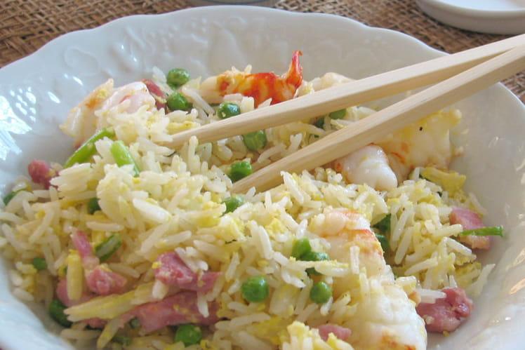 Recette de riz frit la chinoise cantonais la recette - Cuisiner avec ce que l on a dans le frigo ...